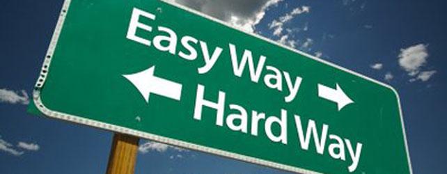 Easy Marketing vs Hard Marketing