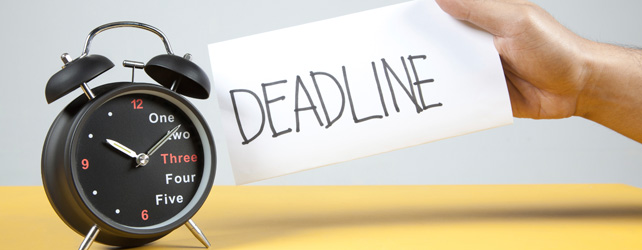 Why You Need To Set A Deadline
